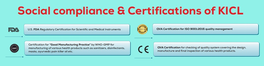 Social Compliance & Certifications of KICL